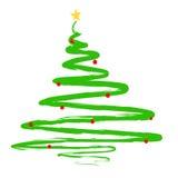 Ilustração pintada da árvore de Natal Fotografia de Stock Royalty Free