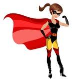 Mulher do super-herói Fotos de Stock Royalty Free