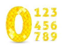 Ilustração realística do vetor com os números do diamante ajustados Imagem de Stock Royalty Free