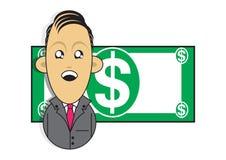 Ilustração rica do homem de negócios Fotografia de Stock Royalty Free