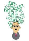 Ilustração rica do homem de negócios Fotos de Stock