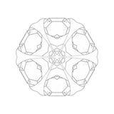 Ilustração: Série do livro para colorir: Bloco da flor dos diamantes Fotos de Stock