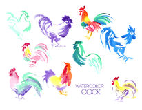 Ilustração tirada mão dos pássaros da exploração agrícola Imagem de Stock