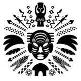 Ilustração tribal abstrata africana Foto de Stock Royalty Free