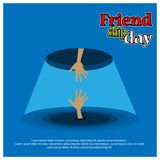 Friendship day background, flat design. EPS file available. see more images related vector illustration