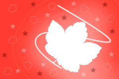 Ilustrated background with maple leaf Royalty Free Stock Photography