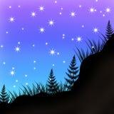 Ilustration, τέχνη εικόνων νύχτας, ζωηρόχρωμη διανυσματική απεικόνιση
