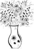 Ilustration букета цветка Стоковые Изображения RF