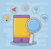 Ilustration вектора значка дизайна технологии и нововведения Стоковое Фото