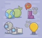 Ilustration вектора значка дизайна технологии и нововведения Стоковая Фотография RF