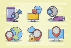 Ilustration вектора значка дизайна технологии и нововведения Стоковые Изображения