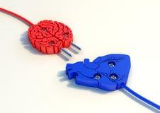 Ilustration штепсельной вилки мозга и сердца Бесплатная Иллюстрация