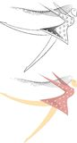 - Ilustration afastado varrido do vetor da mulher ilustração royalty free
