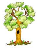 Ilustration agradable del árbol de la historieta Imagen de archivo