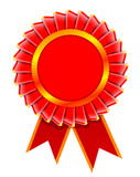 Ilustration of award rosette. Vector realistic illustration of award rosette isolated on white background Stock Photography
