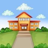 Ilustration bonito com prédio da escola Fotos de Stock