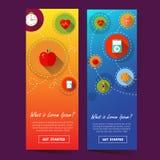 Ilustration de bannière de deux verticales Photos stock