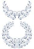 Ornamental vector Set. Floral elements for design royalty free stock image