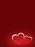 Ilustration del biglietto di S. Valentino rosso Immagine Stock Libera da Diritti