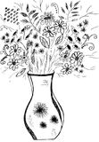 Ilustration del mazzo del fiore Immagini Stock Libere da Diritti
