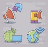 Ilustration del vector del icono del diseño de la tecnología y de la innovación Imágenes de archivo libres de regalías