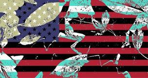 Ilustration der Flagge von US mit anderen Farben Stockbild