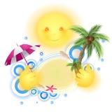Ilustration do verão Imagem de Stock