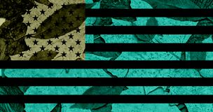 Ilustration du drapeau des USA avec d'autres couleurs image stock