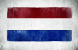Ilustration of Flag of Netherlands Isolated Royalty Free Stock Images