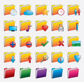 Folder web icons set Stock Photos