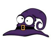 Ilustration of halloween cute purple hat. Vector illustration of halloween cute hat Royalty Free Stock Photos