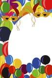 ilustration karnawałowy plakat Obrazy Royalty Free