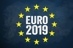 Ilustration met Europese Verkiezing 2019 royalty-vrije illustratie