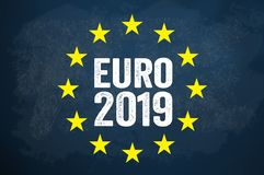 Ilustration mit Europawahl 2019 lizenzfreie abbildung