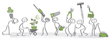 Ilustration que cultiva un huerto ilustración del vector