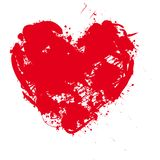 Ilustration of a red heart pattern background Stock Photos