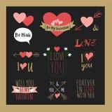 Ilustration van de de dagkaart van Valentinevecotr Stock Foto