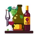 Ilustration van het druivenstilleven Royalty-vrije Stock Fotografie