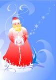 Ilustration von einem Weihnachtsmann. vektor abbildung