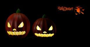 ilustrator Halloween przyjęcia tło z baniami Zdjęcia Royalty Free