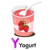 Ilustrator y chrzcielnica z jogurtem Zdjęcia Royalty Free