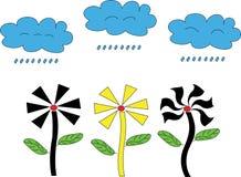 Ilustratora tła kwiatu chmura i kształt ilustracja wektor