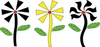 Ilustratora tła kwiatu kształt Obrazy Royalty Free