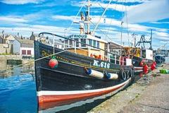 Ilustre ancorado em Burghead Imagem de Stock Royalty Free