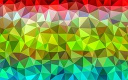 ilustre o baixo papel de parede da cor do polígono Fotos de Stock