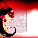 ilustrująca śliczna dziewczyna royalty ilustracja