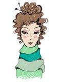 ilustrująca abstrakcjonistyczna śliczna dziewczyna ilustracji