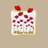 ilustrujący śliczni kwiaty Obrazy Stock