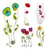 ilustrujący śliczni kwiaty ilustracji