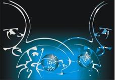 ilustrujący tła błękit Obrazy Stock